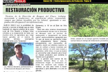 Entrevista a Marcos Giordano, restauración de bosque nativo en Villa Ángela, Chaco