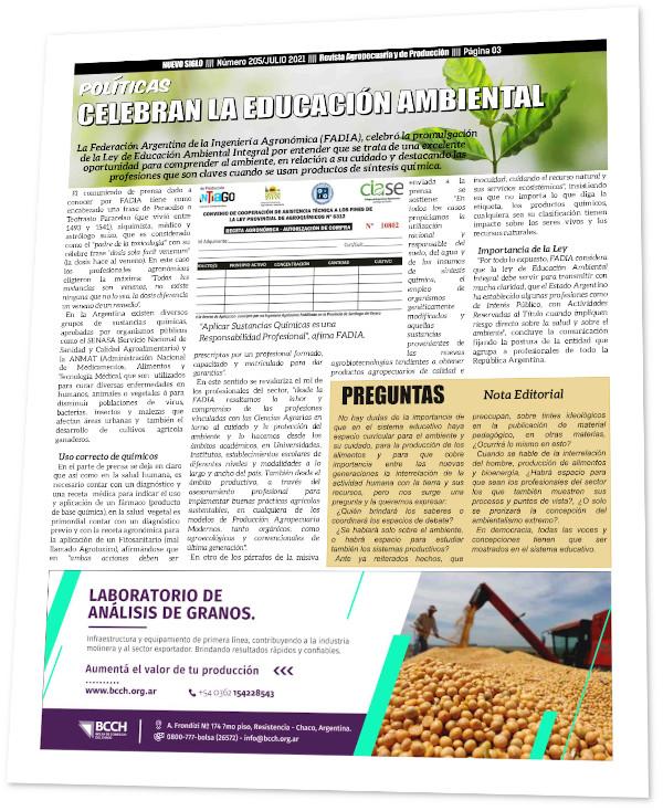 FADIA celebra la educación ambiental en Argentina pero pide más profesionales de agronomía en el proceso