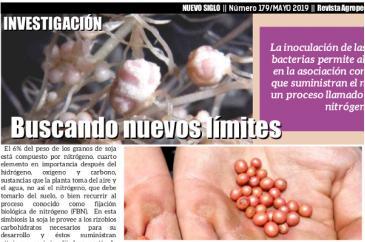 Coinoculación en soja - Revista Agropecuaria Nuevo Siglo - Mayo 2019