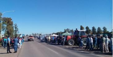 Protesta de productores de Federación Agraria Argentina en Chaco