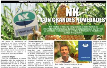 Novedades en genética NK, artículo en la Revista Agropecuaria Nuevo Siglo