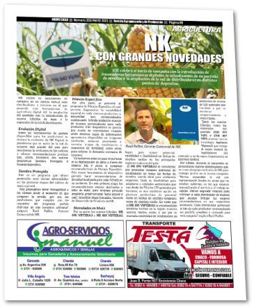 Novedades tecnológicas en semillas NK, artículo publicado en la edición Mayo 2021 de la Revista Agropecuaria Nuevo Siglo.