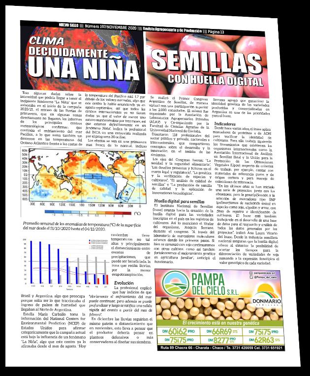 Fenómeno La Niña impacta en la producción Agropecuaria del Norte Argentino