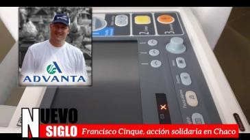 Francisco Cinque, Advanta donó elementos a hospitales de Charata y Corzuela en Chaco.